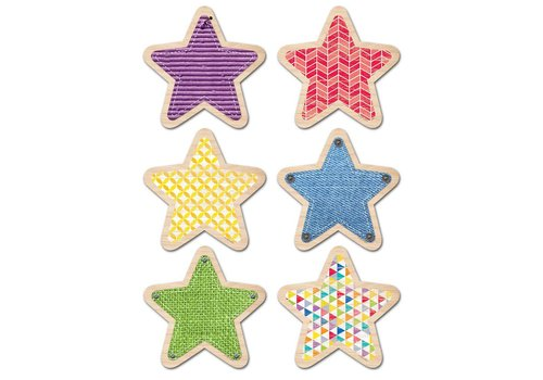 """Creative Teaching Press Upcycle Stars Accents 6"""""""