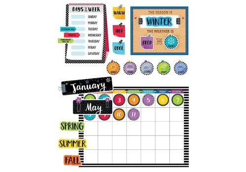 Creative Teaching Press Bold & Bright Calendar  Set bulletin board set