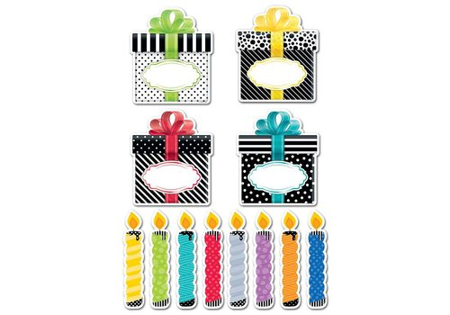"Creative Teaching Press BIRTHDAY PARTY 6"" DESIGNER CUT-OUTS"