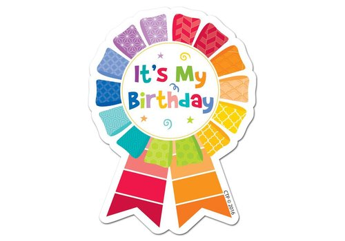 Creative Teaching Press Painted Palette Happy Birthday Badge