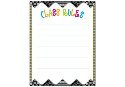 Creative Teaching Press BW Collection Class Rules Poster Chart