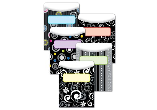 Creative Teaching Press BW Collection Library Pockets - Standard