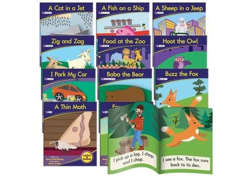 JUNIOR LEARNING Phonics Fiction Readers: Letters & Sounds  (Reading Level 3-5)