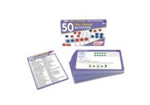 JUNIOR LEARNING 50 Ten Frame Activity Cards