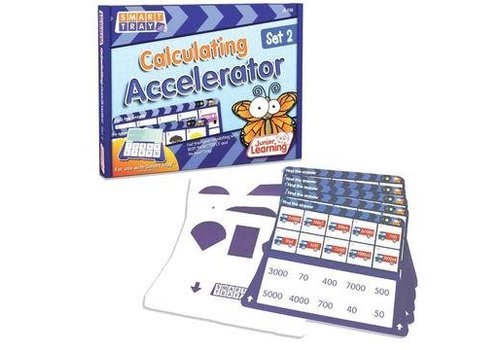 JUNIOR LEARNING Calculating Accelerator Cards Set 2 for Smart Tray *