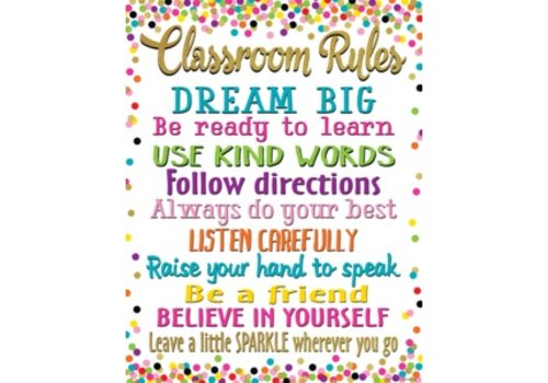 Teacher Created Resources Confetti Classroom Rules Chart