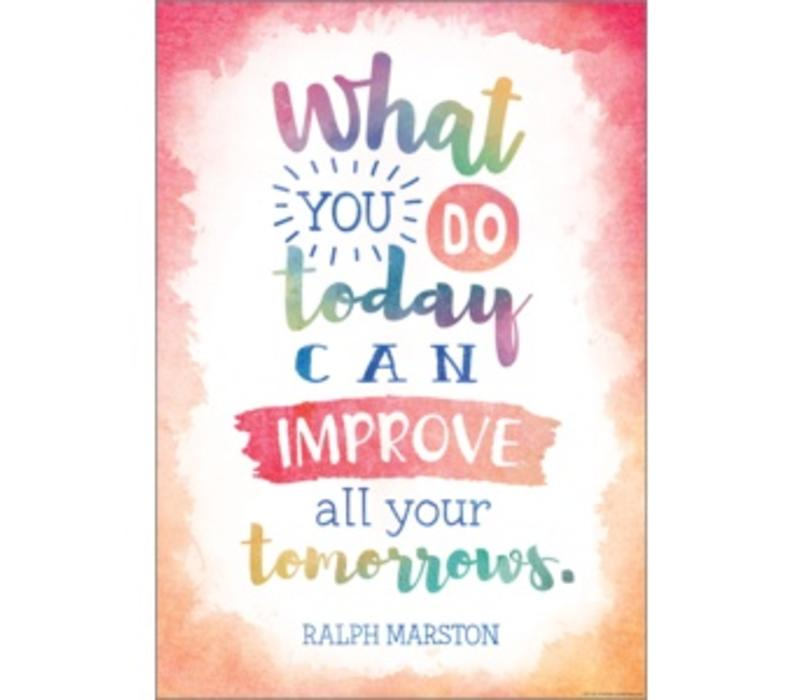 What You Do Today Can Improve All Your Tomorrows Positive Poster*