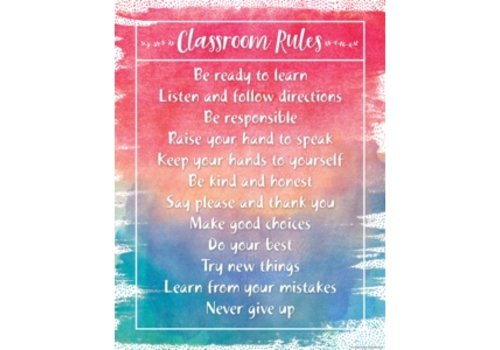 Teacher Created Resources Watercolour Classroom Rules Chart