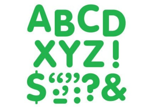 Trend Enterprises Stick-eze Stick on Letters Green 2 inch *