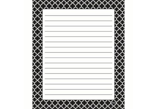 Trend Enterprises Moroccan Black Notepad