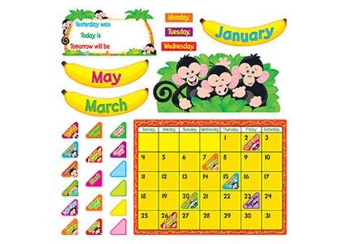 Trend Enterprises Monkey Mischief Calendar