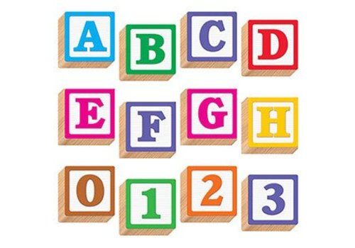 Trend Enterprises Wooden 3D Blocks Letters 4""