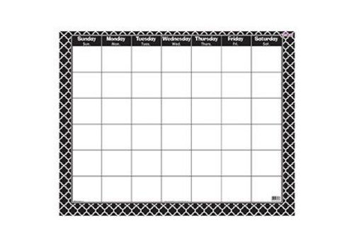 Trend Enterprises Moroccan Black Wipe Off Calendar