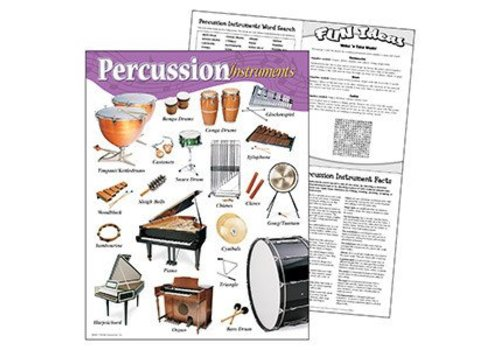 Trend Enterprises Percussion Instruments Poster*
