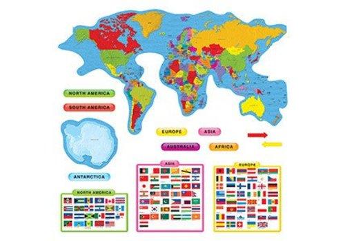 Trend Enterprises Continents & Countries Bulletin Board Set