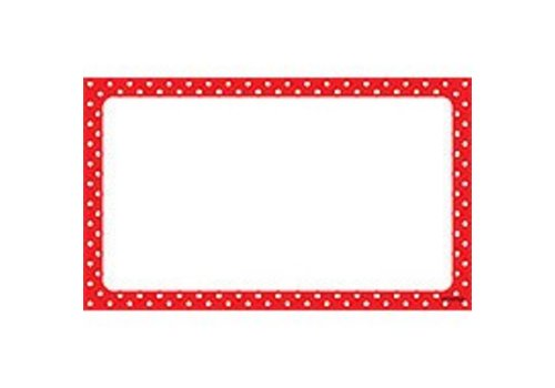 Trend Enterprises Polka Dots Red Index Cards - Blank