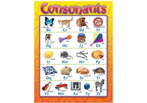 Trend Enterprises Consonants Poster