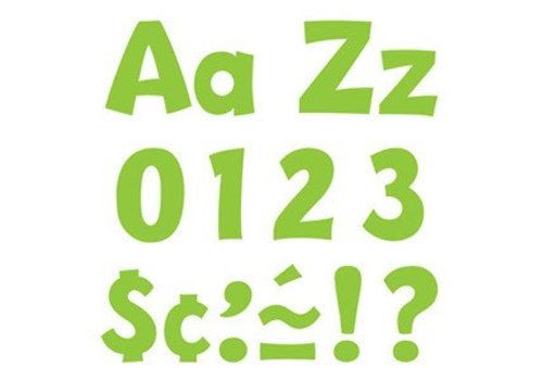 "Trend Enterprises Lime 4"" Playful Combo Letters"