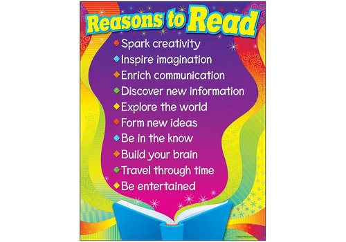 Trend Enterprises Reasons to Read Poster