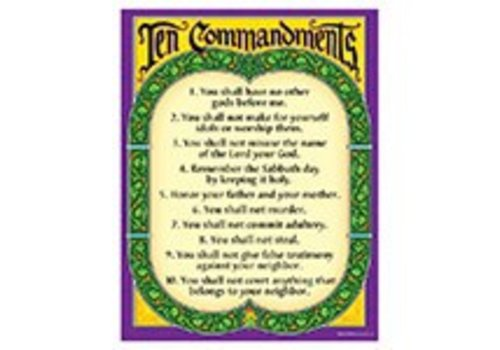 Trend Enterprises Ten Commandments Poster