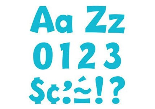 "Trend Enterprises Sky Blue 4"" Playful Combo Letters"