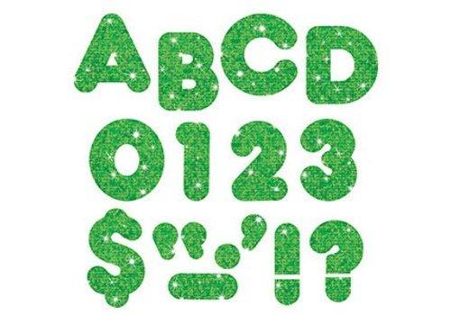 """Trend Enterprises Green Sparkle 4"""" Casual UC Letters"""
