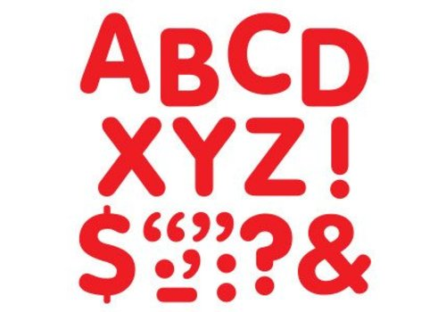 "Trend Enterprises Stick-eze Stick on Letters Red 2"" Letters"