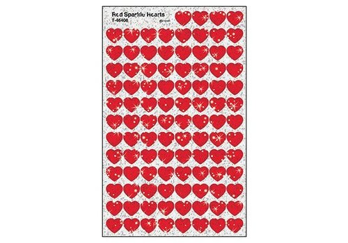 Trend Enterprises Red Sparkle Hearts SuperShapes Stickers *