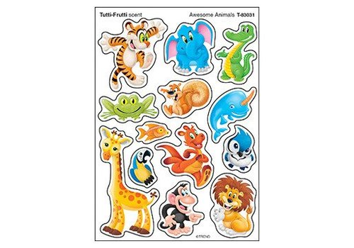 Trend Enterprises Awesome Animals Stinky Stickers