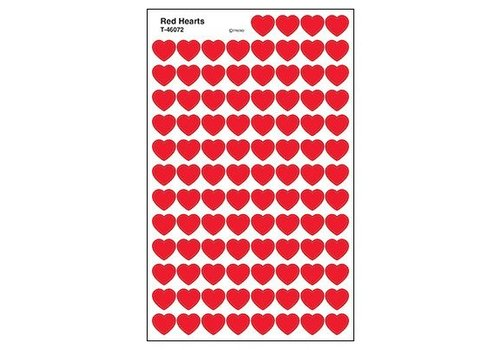 Trend Enterprises Red Hearts Stickers