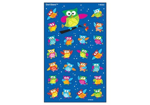 Trend Enterprises Owl-Stars! SuperShapes Stickers