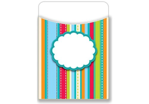 Creative Teaching Press Stripes & Stitches Library Pockets - Jumbo
