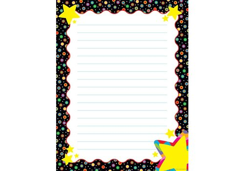 Creative Teaching Press Dots on Black with Stars Poster Chart*