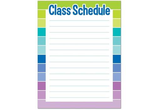Creative Teaching Press Painted Palette Class Schedule Chart*