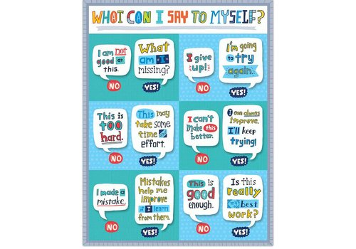 Creative Teaching Press What Can I Say to Myself Chart