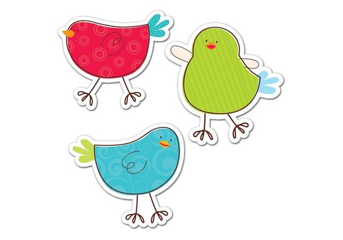 "Creative Teaching Press TWEETING BIRDS 6"" DESIGNER CUT-OUTS *"