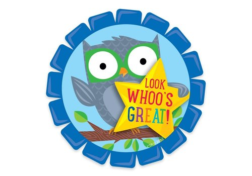 Creative Teaching Press Woodland Friends Look Whoo's Great! Badge *