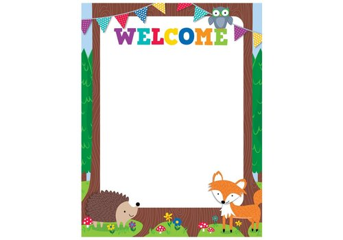 Creative Teaching Press Woodland Friends Welcome Chart*