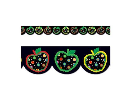 Creative Teaching Press Dots on Black Apples Border* (D)