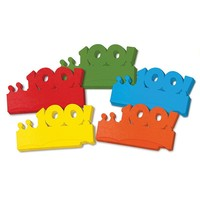 100th Days of School Paper Crowns, Set of 25