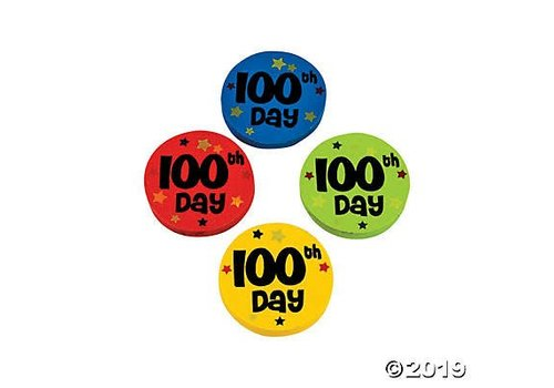 fun express 100th Day Erasers