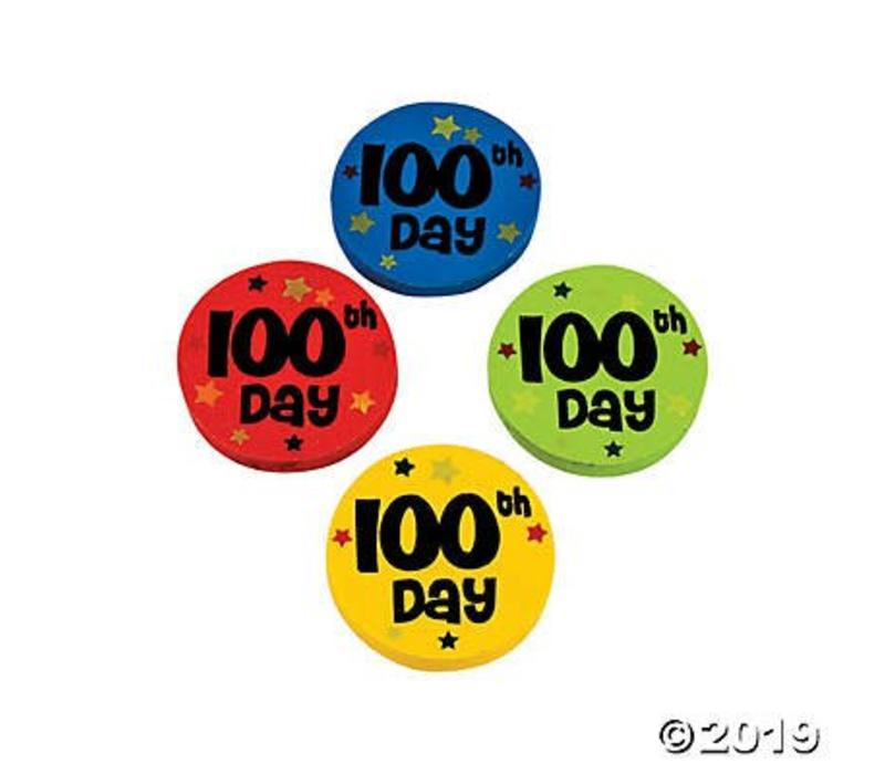 100th Day Erasers