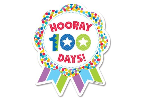 Creative Teaching Press Hooray 100th Days BADGES