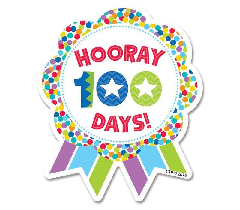Hooray 100th Days BADGES