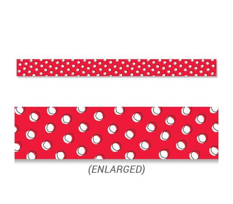 Doodle Dots on Red Border*