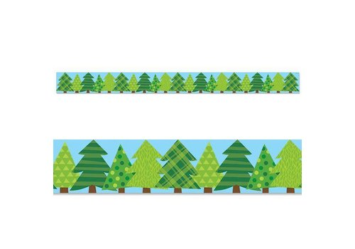 Creative Teaching Press Woodland Friends Patterned Pine Trees Border
