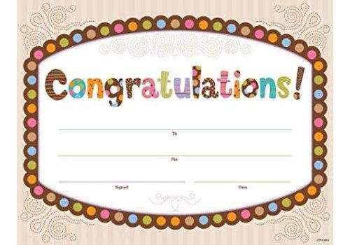 Creative Teaching Press Dots on Chocolate Congratulations Large Award
