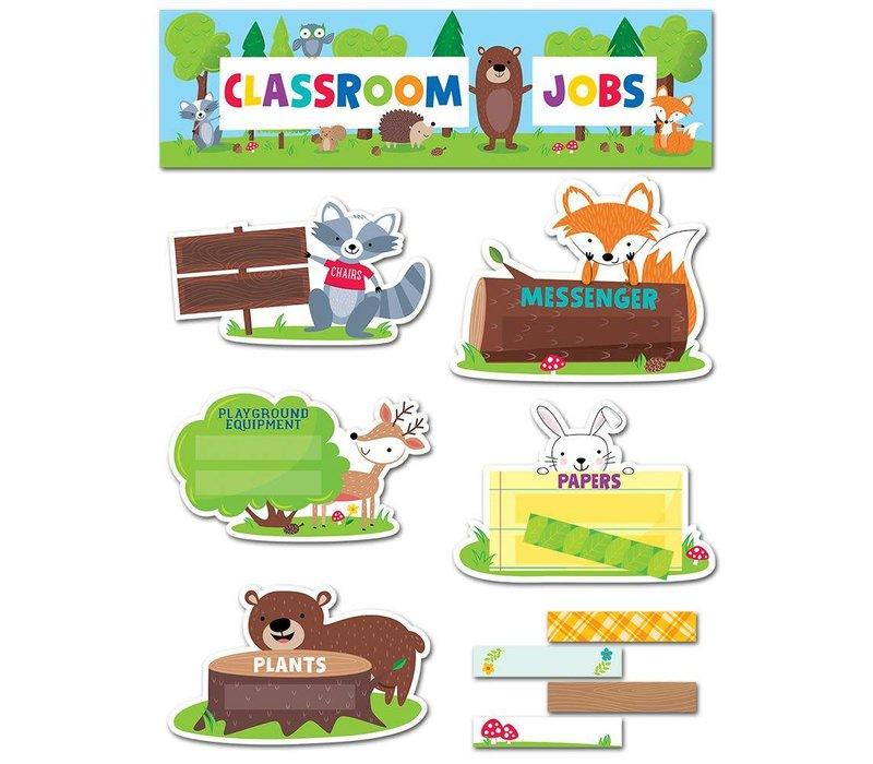 Woodland Friends Classroom Jobs Mini Bulletin Board *