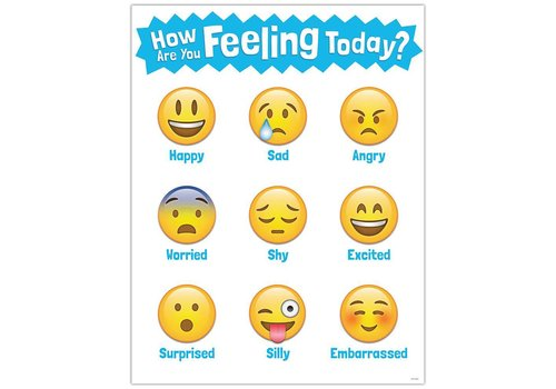 Creative Teaching Press How Are You Feeling Today? Emoji Chart*