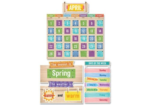 Creative Teaching Press Upcycle Style Calendar Set Bulletin Board